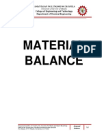 6R08 - Material Balance