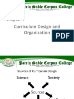 Curriculum Design and Organization