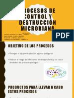 Procesos de Control y Destrucción Microbiana
