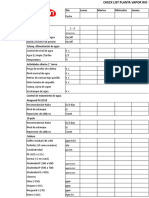 Check List Planta Vapor