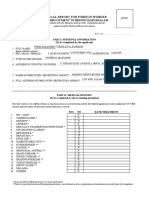 Medical Report for Foreign Worker Health Screening