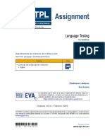 UTPL - Language Testing Assigment (2019-2020)