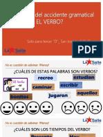 Qué Sabes Del Accidente Gramatical El Verbo