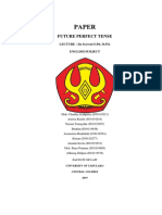 English Paper of Future Perfect Tense