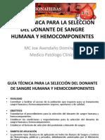 1.- Guía Técnica de Selección Del Donante de Sangre Parte i
