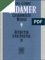Hans-Georg Gadamer-Gesammelte Werke 9. Ästhetik Und Poetik II. Hermeneutik Im Vollzug -Mohr Siebeck (1993)