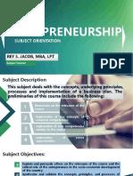 1 Entrepreneurship Orientation