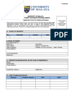 Application Form for Outbound Programme