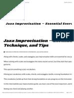 Jazz Improvisation - Essential Exercises, Technique, And Tips Copy