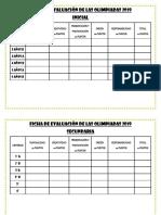 Ficha de Evaluación de Las Olimpiadas 2019