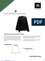 JBL sub140p Manual