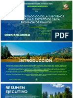 Estudio Hidrologico de La Subcuenca Apurímac, Aliaga e. y Lazaro d.