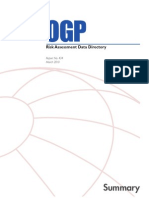 OGP Risk Assessment Data Directory, Report No. 434, Compiled, 2010