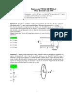 Examen General Fsicai Velocidad Inicial Fisica