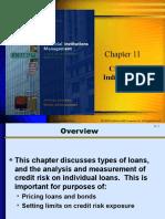 Chap 11 Credit Risk Individual Loans