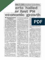 Peoples Journal, Nov. 11, 2019, Duterte hailed over fast PH economic growth.pdf