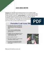Leaf Area Meter-writeup