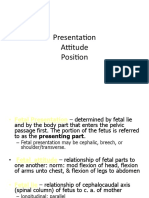 Lecture 2B- Fetal Presentations and Positions During Delivery