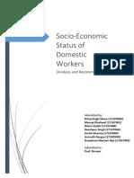 Socio economic status of domestic workers in india