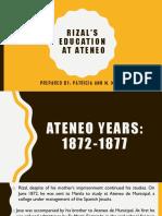 Rizals Education