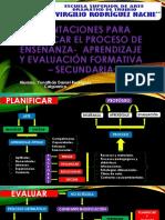 Orientaciones Para Planificar El Proceso de Enseñanza- Aprendizaje