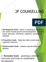 GOALS OF GUIDANCE AND COUNSELING