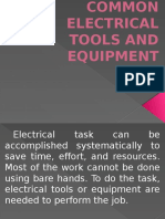 5. Electrical Tools and Equipment
