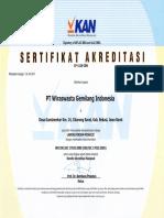 Sertifikat ISO 17025 Plus Lampiran