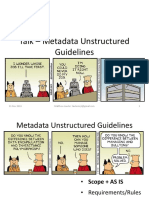 Talk - Metadata Unstructured Guidelines