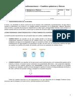 Guía química de cambios físicos y quimicos