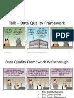 Talk - Data Quality Framework