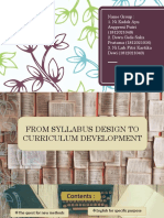 From Syllabus Design to Curriculum Development- Kelompok 2