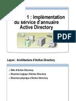 Chapitre 1_Implémentation Du Service d'Annuaire Active Directory