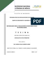 Metodologia Para La Realización de Inventarios Viales en Intersecciones