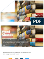 Word Classes - An Introduction