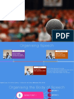Organising Your Speech