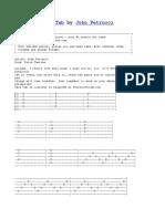 Furia Taurina Tab by John Petrucci