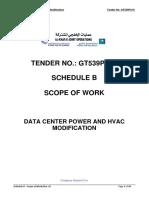 Saudi Aramco Scope of work