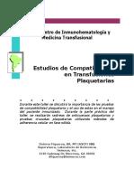 Estudios de Compatibilidad en Transfusiones Plaquetarias