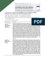 Pemanfaatan Kitosan Termodifikasi Asam Askorbat sebagai Adsorben Ion Logam Besi (III) dan Kromium (III)