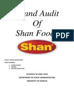 brand audit of shan food