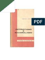 Nacionalismo e Patriotismo - Gustavo Corção