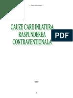 Cauzele Care Inlatura Raspunderea Contraventionala