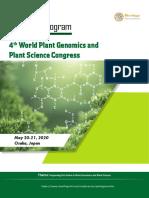 Plant Genomics 2020 Tentative Program