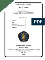 2. Cover Biokimia Asam Amino Dan Protein