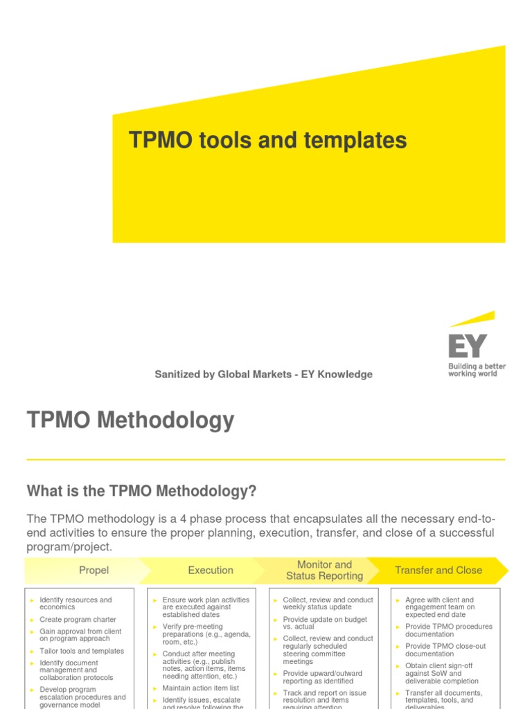 Tpmo Tools And Templates Sanitized By Global Markets Ey Knowledge Governance Committee