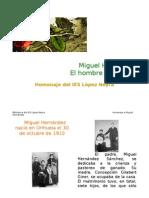 Homenaje a Miguel Hernandez