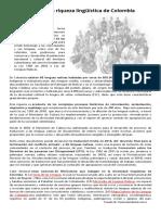 Valoración de La Riqueza Linguistica en Colombia