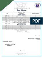 Sample classroom program