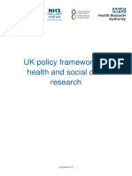 Uk Policy Framework Health Social Care Research
